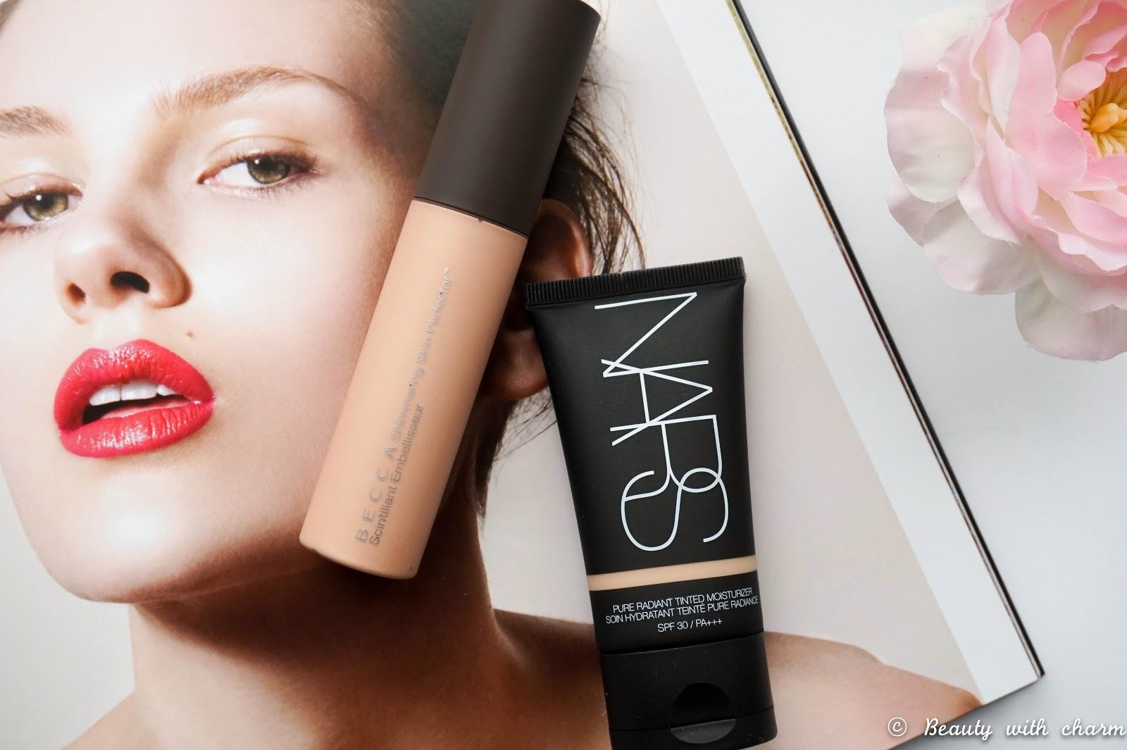 Mini Space NK Beauty Haul, BECCA Shimmering Skin Perfector in Opal, NARS Tinted Moisturiser in Alaska