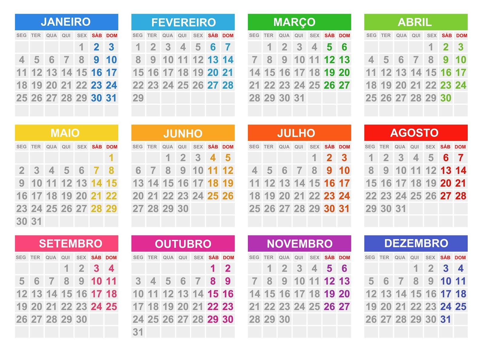 Base de calendário 2016 editável PSD,PNG,PDF e JPG | calendários ...