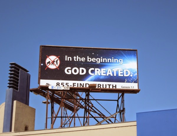 In the beginning God created anti-evolution billboard