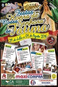 Granho(Salvaterra)- Festas em Hª de Nª Srª de Fátima 2016- 29 Julho a 1 Agosto