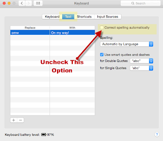 Disable Correct Spelling On OSX