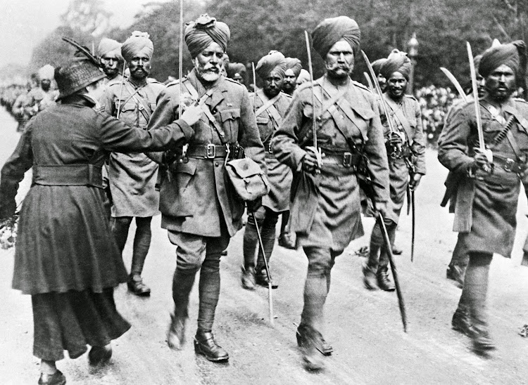 Sikh Indian Soldiers arrive in France during First World War