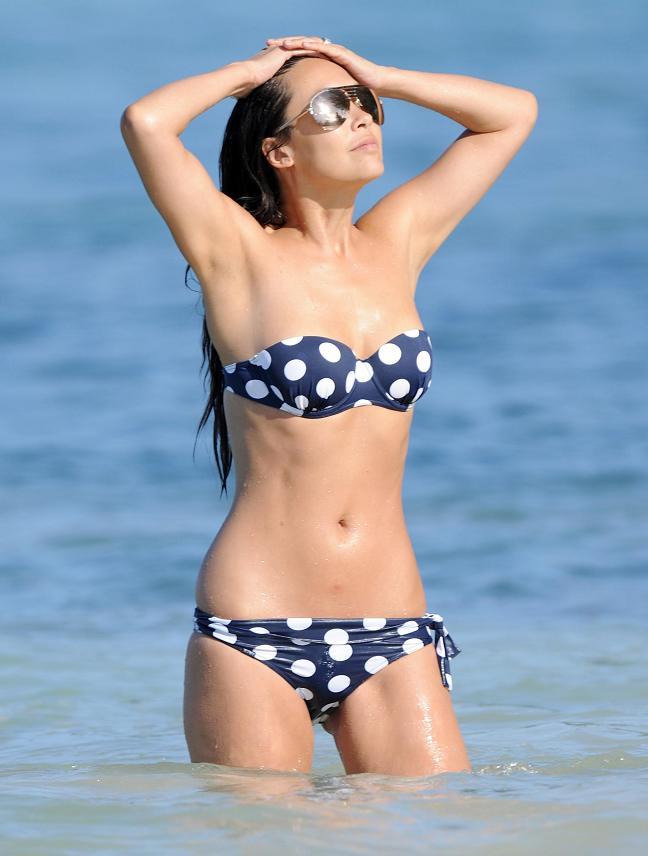 Myleene Klass in a polka-dot bikini