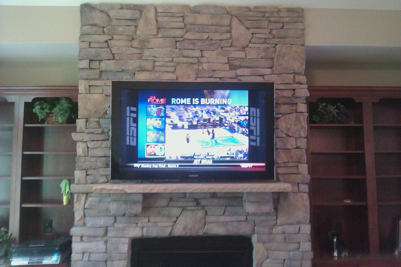 Charlotte Tv Mounting Service And Home Theater Installation 704 905 2965 Fireplace And