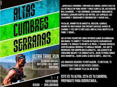 Ultra trail run Altas cumbres serranas (Aiguá, Maldonado, 100k y 60k; 01-02/nov/2014)