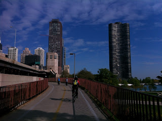 cycling with families in Chicago