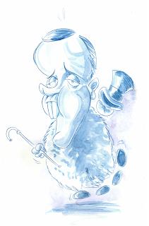 Caricature de Fred Hamster à l'aquarelle par Guillaume Néel