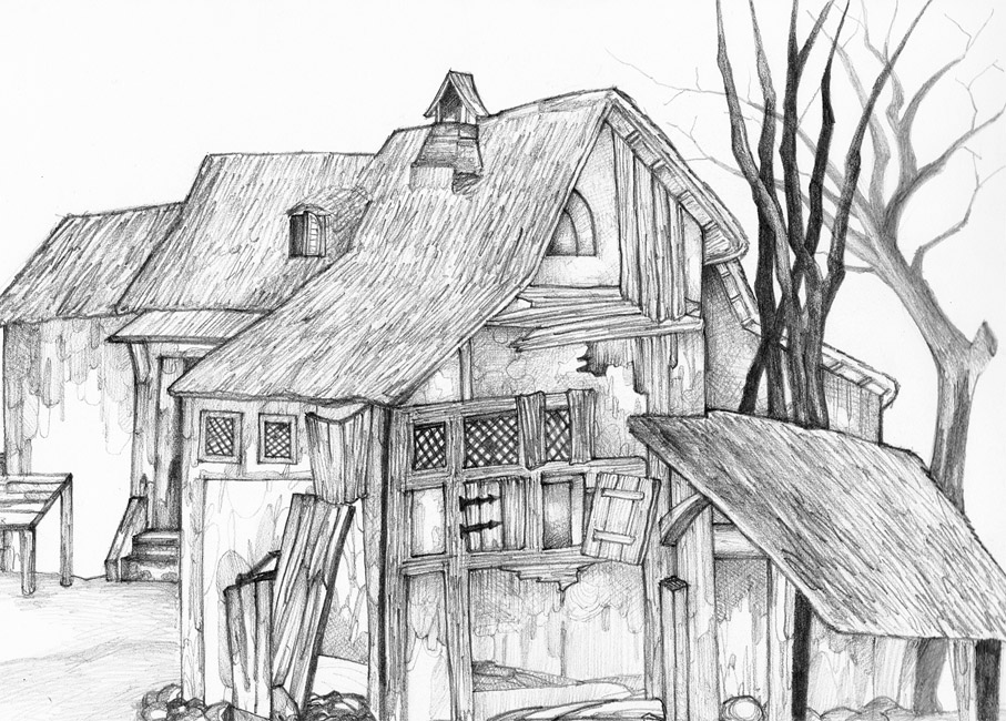 Imagenes de casas a lapiz imagui - Casas dibujadas a lapiz ...