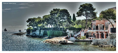 David Niven house Cap Ferrat panoramic view