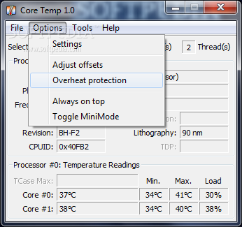 cpu temp monitor software | Core Temp