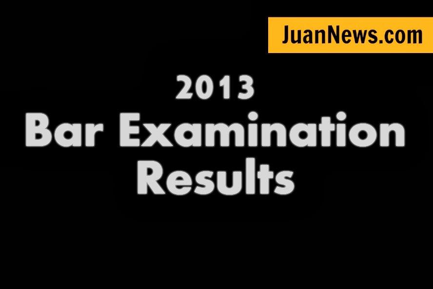 2013 Bar Examinations Results