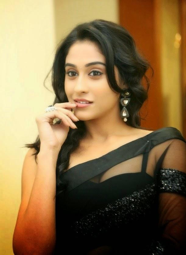 Regina hot black saree images gallery