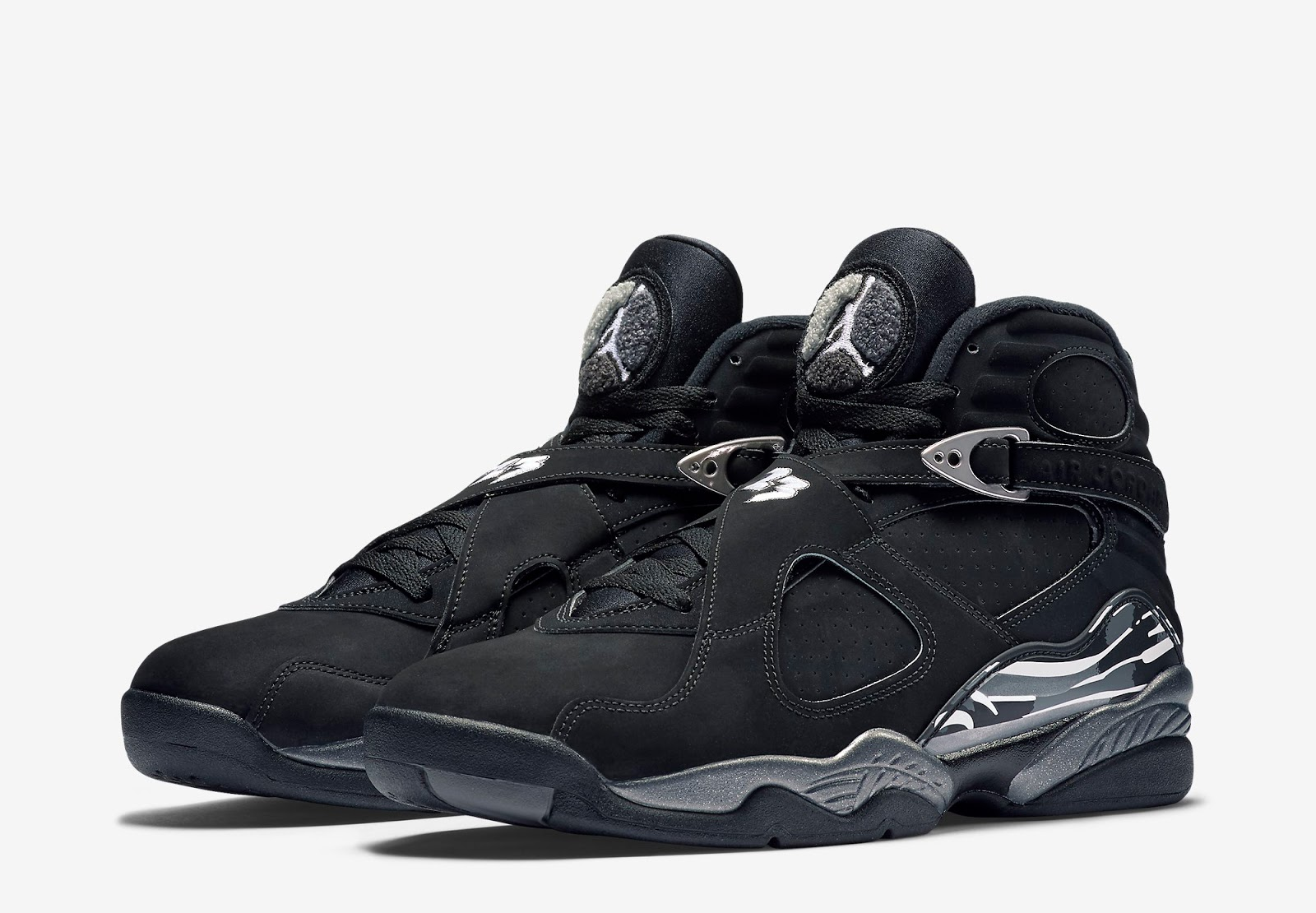 black and white jordan 8