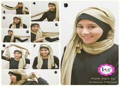 Cara Memakai Jilbab Kreasi