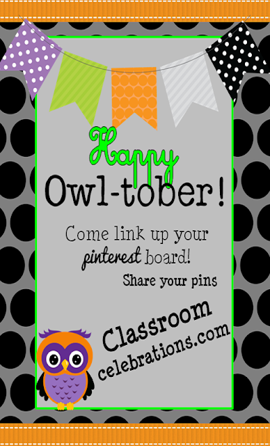 Come link up your Pinterest Board on Classroom Celebrations