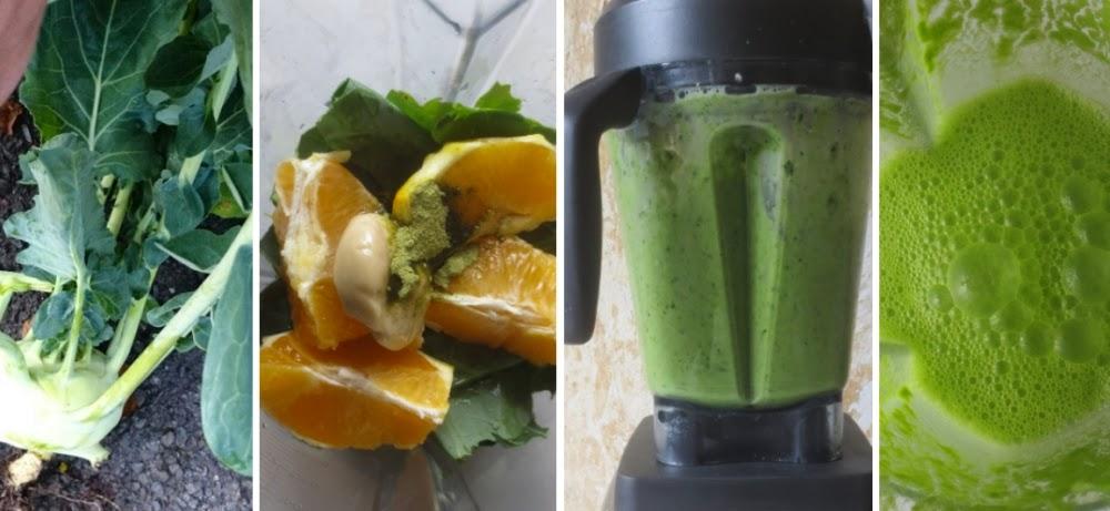 Zubereitung grüner Smoothie