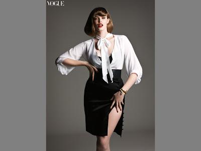 modelo rellenita en Vogue