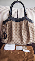 GUCCI SUKEY MEDIUM TOTE WITH DETACHABLE INTERLOCKING G CHARM