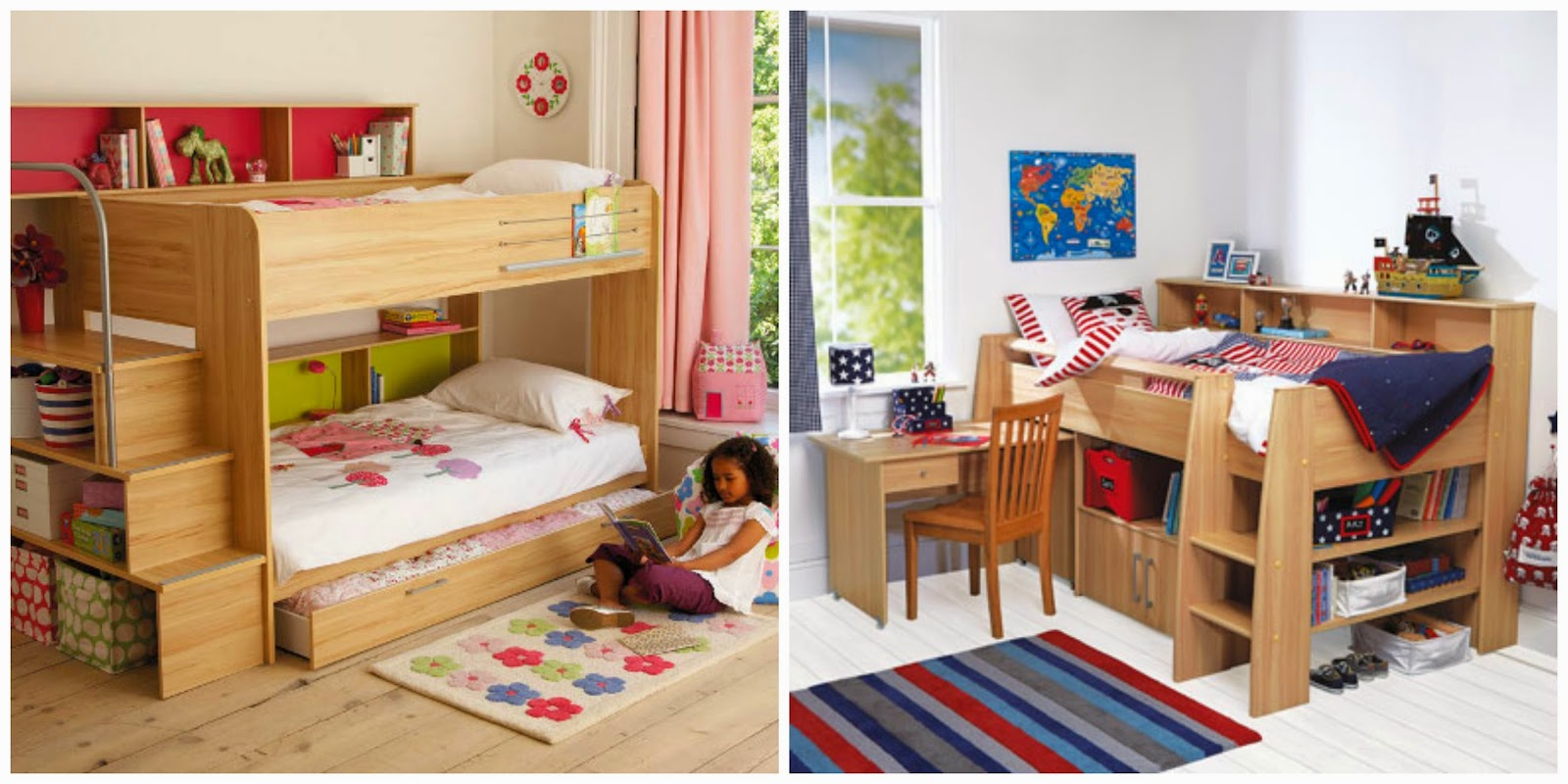 High Cabin Multi tasking childrens beds storage