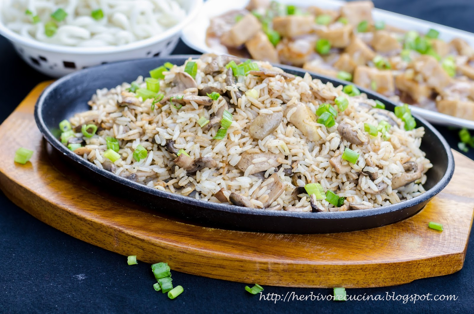 mushroom fried rice I make this often, it is a favorite at my house make certain that your rice is cold before using in this recipe, so dont throw out that leftover rice from your chinese food take-out, or prepare your rice a day ahead and refrigerate.