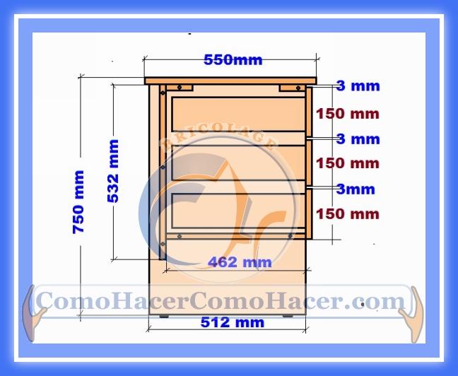 Plano de escritorio web del bricolaje dise o diy for Como se dan las medidas de un mueble