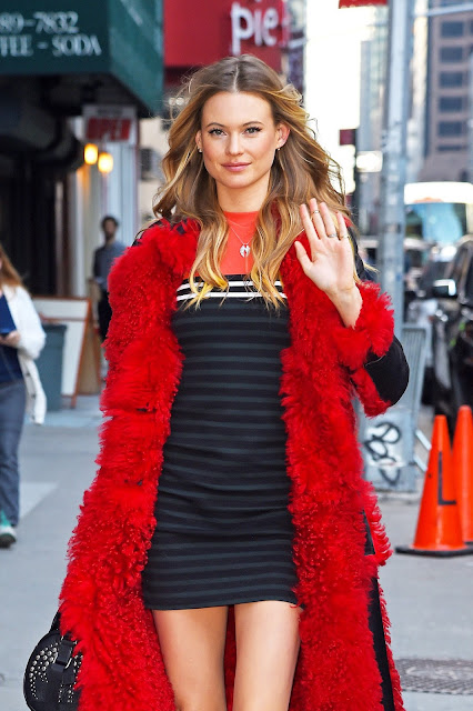 Fashion Model, @ Behati Prinsloo - The Late show with Stephen Colbert in New York