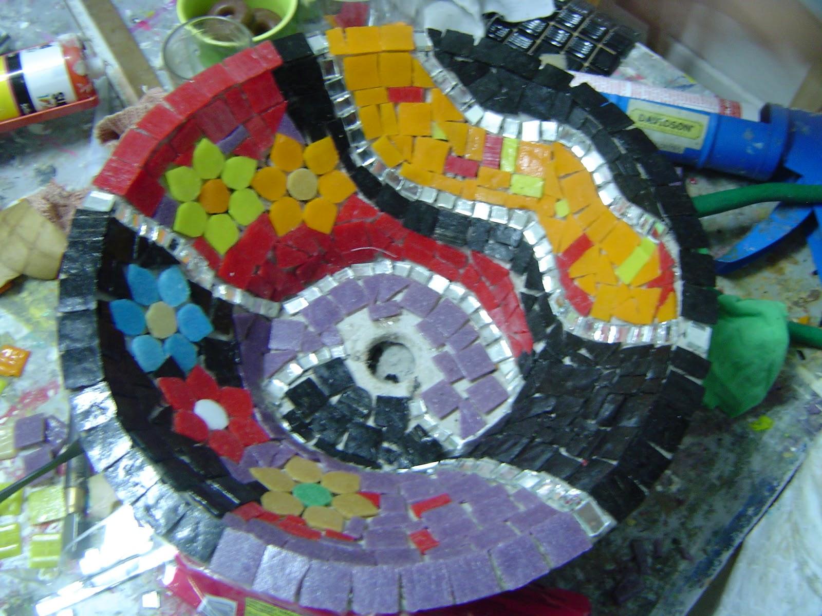 GwendyDecoración :: Mosaiquismo: TALLER DE BACHAS DE BAÑO