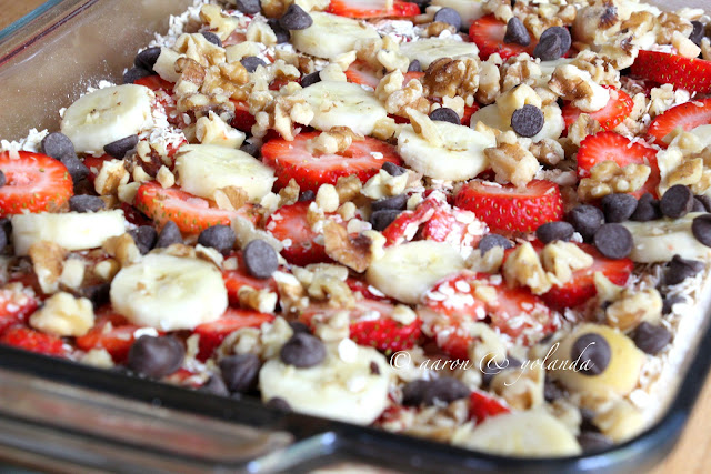 BAKED OATMEAL CASSEROLE - I am not a fan of oatmeal, so I am always looking for ways to camouflage the oatmeal and yet eat something healthy for breakfast. So, imagine my joy when I stumbled across this dish from Urban Nester. And, it included yummy strawberries and bananas and nuts! One-pot dish for breakfast - sign me up!