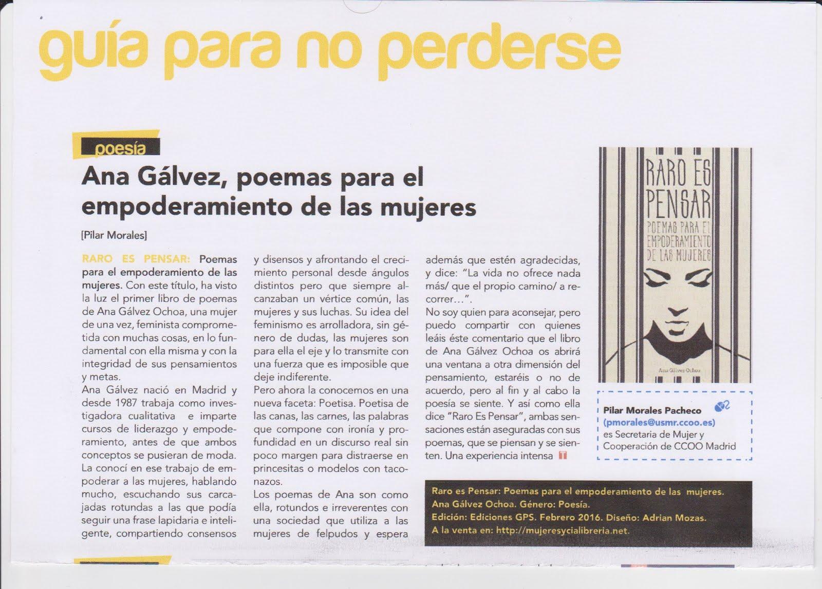 """Reseña de """"Raro es pensar en la Revista Trabajadora"""""""