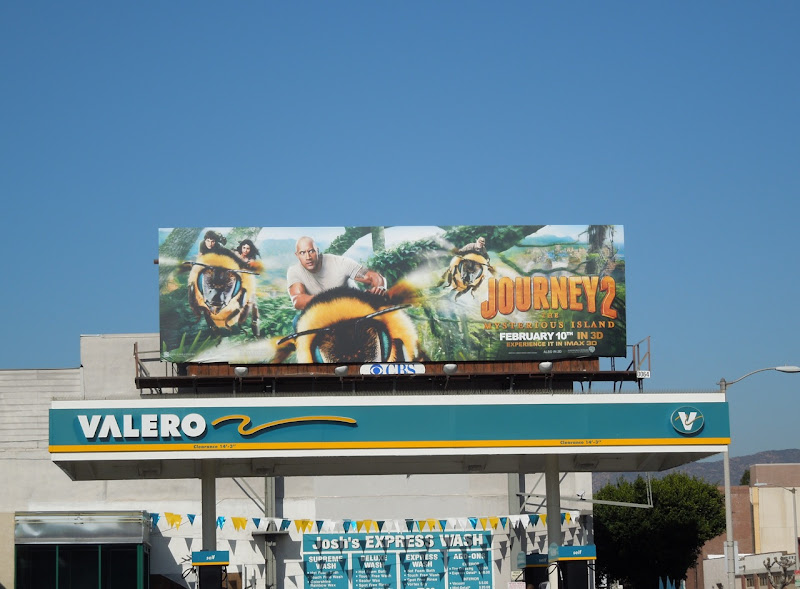 Journey 2 Mysterious Island billboard