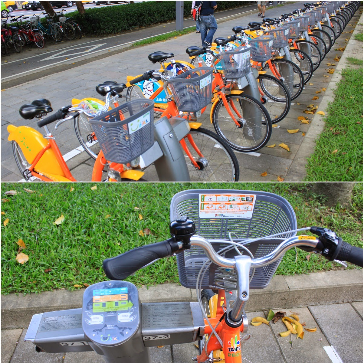 Bicycles rental in the capital city of Taipei in Taiwan to reduce air pollution and promote green environment