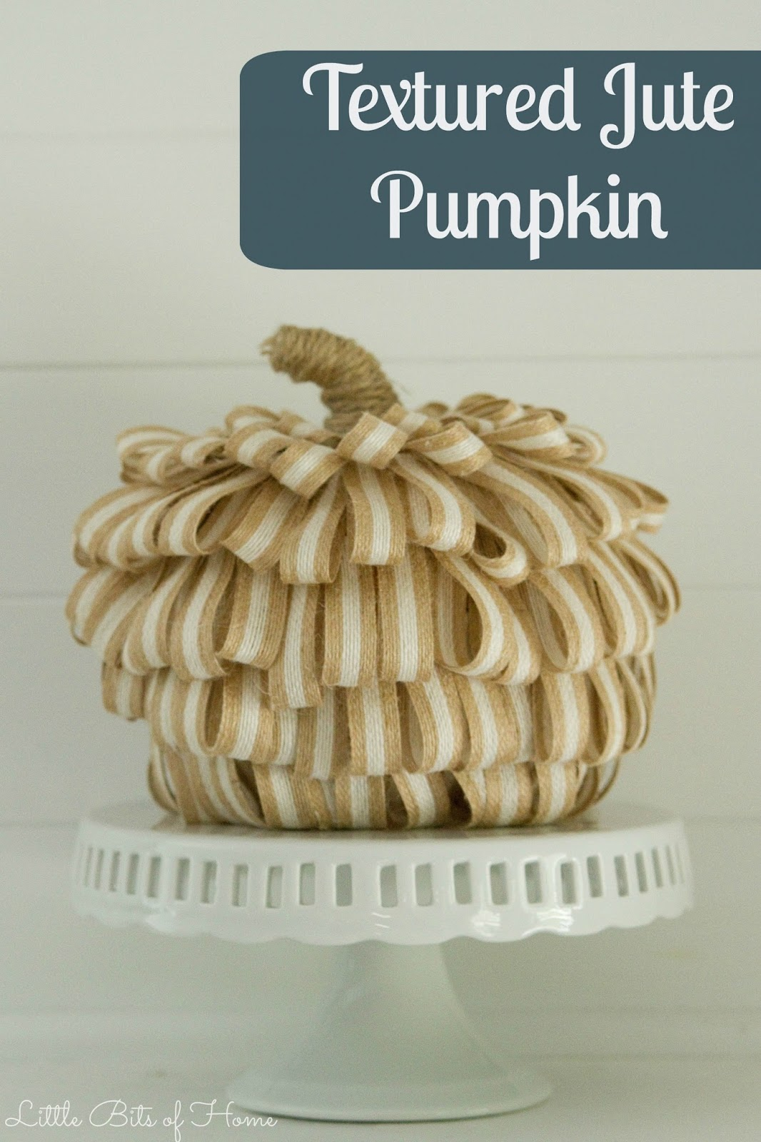 Homeforthefallidays Halloween Craft Blog Hop Textured Jute Pumpkin