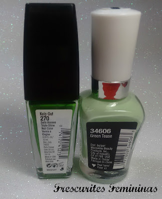 sally hansen, triple shine, kelp out, wet n wild, megalast, limited edition, green tease