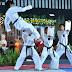Foto Suguhan Demonstrasi Taekwondo Pada Resepsi Pernikahan