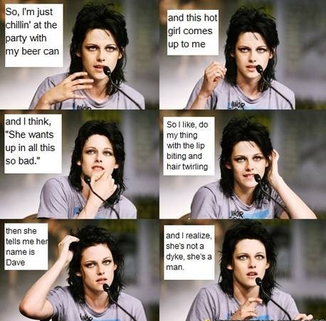 Kristen Stewart Trying To Be Funny