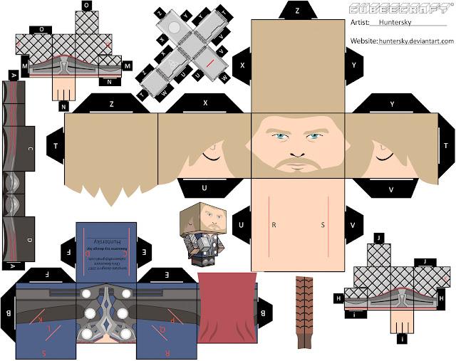 Papercraft Thor para montar