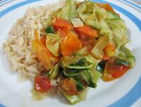 Refogado de Abobrinha, Tomate e Cebolinha (vegana)