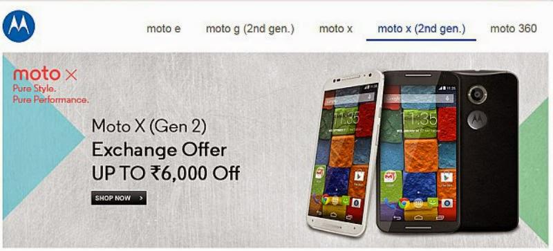 Flipkart Gives Rs. 6,000 Discount on Moto X {Gen 2}