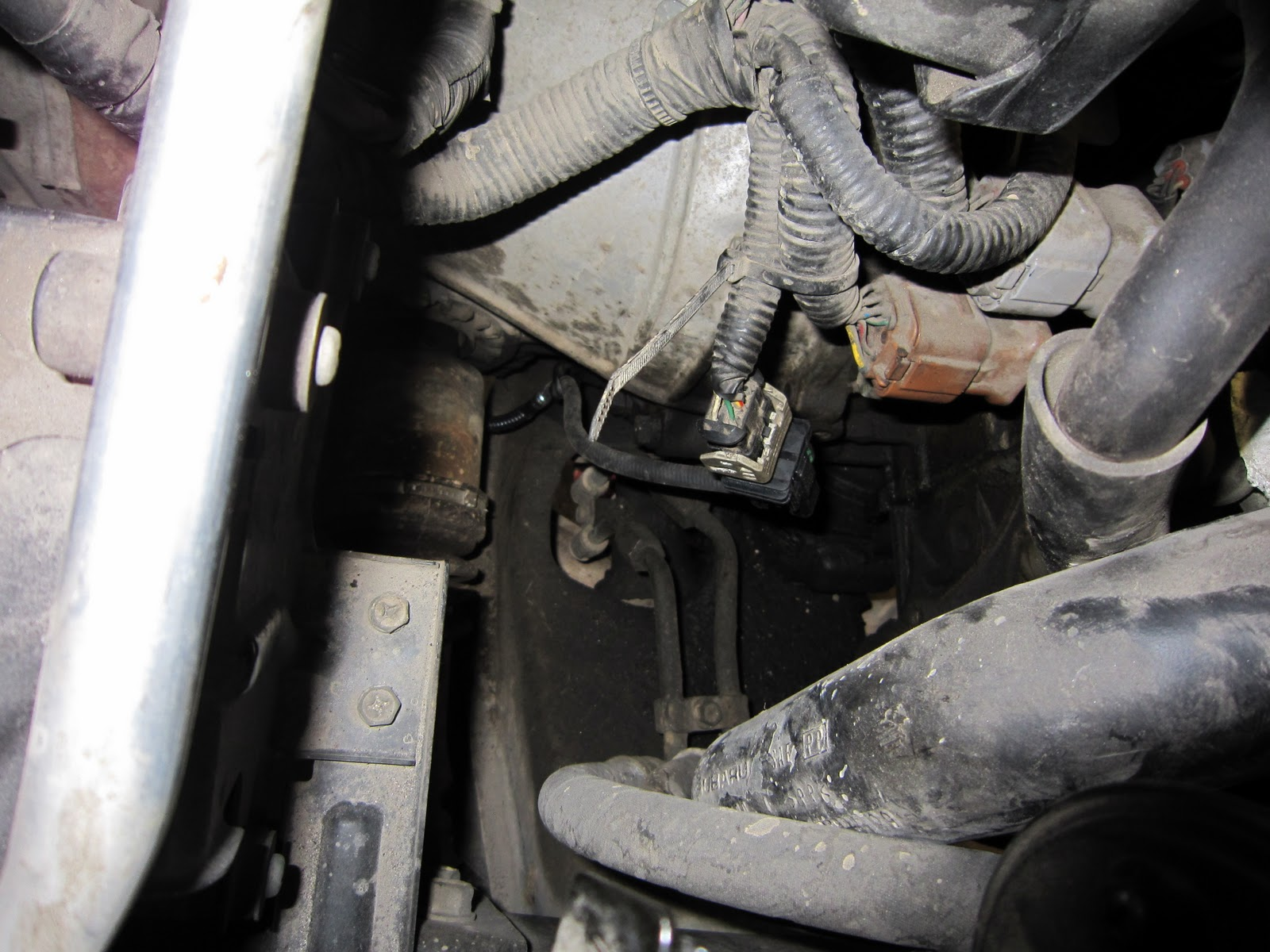 Bill In Tahoe Subaru Outback O2 Sensor Po130 2000 Map Location Now To Remove The First Locate Connector Plug On Passenger Side Of Engine It Has A Light Grey Colored Safety Clip