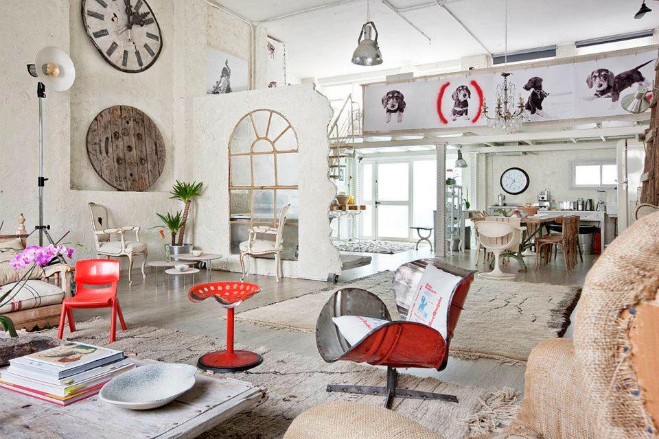 Interior un estudio en blanco vintage virlova style - Decoracion industrial vintage ...