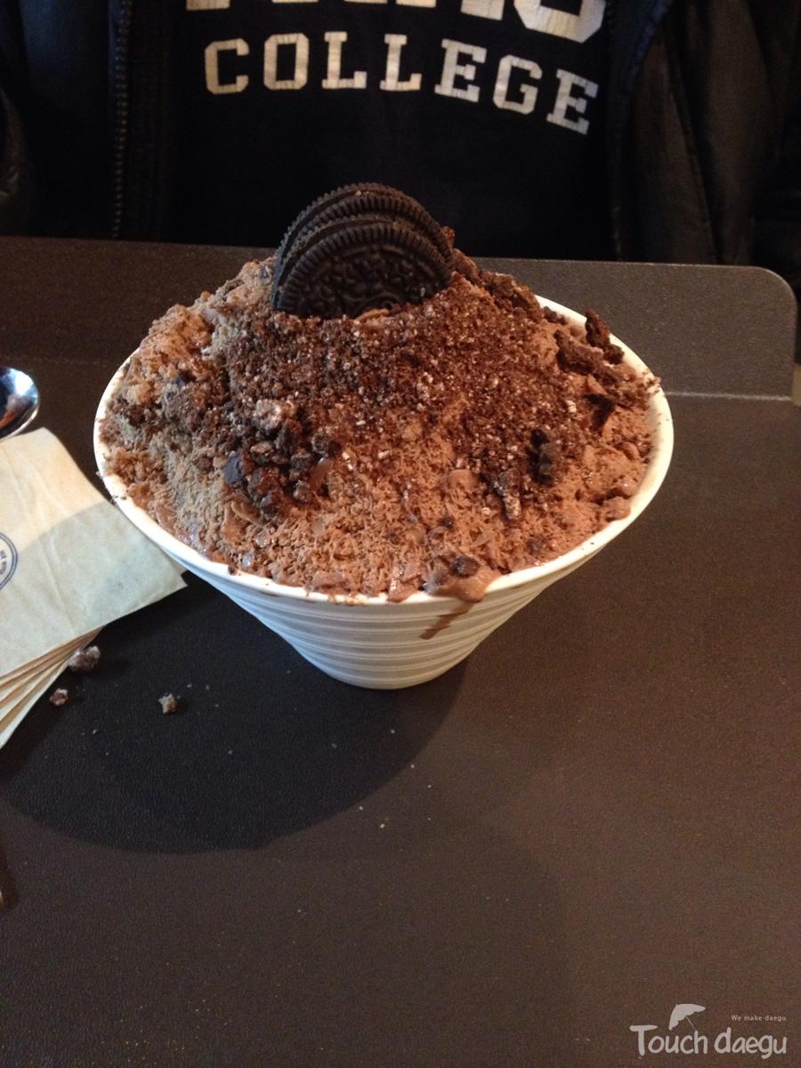 Choco bingsu from Snolic