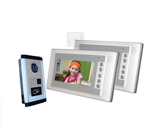 SY-803+D9ID-white 1/2 - комплект видео домофона с RFID (2 монитора)