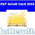 KSP Admit Card 2015 Download Constable Hall Ticket Online