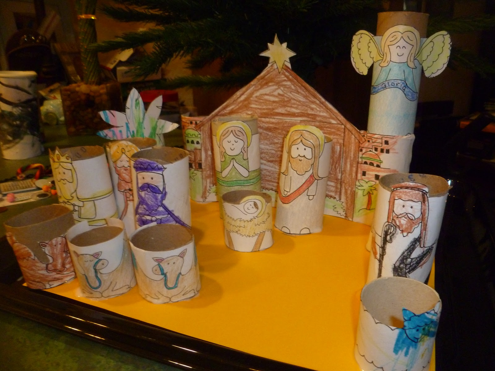 Our nativity crafts and activities mama to 6 blessings for Nativity crafts to make