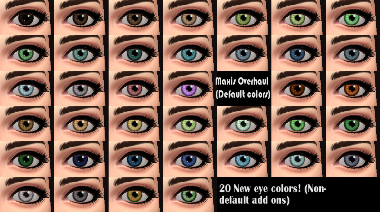 My Sims 4 Blog More Realistic Looking Eye Colors