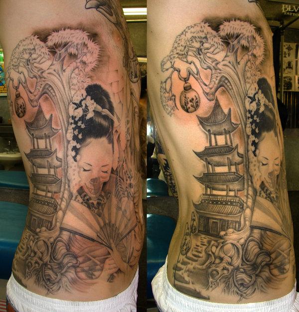 Tattoo art in geisha tattoo imagination