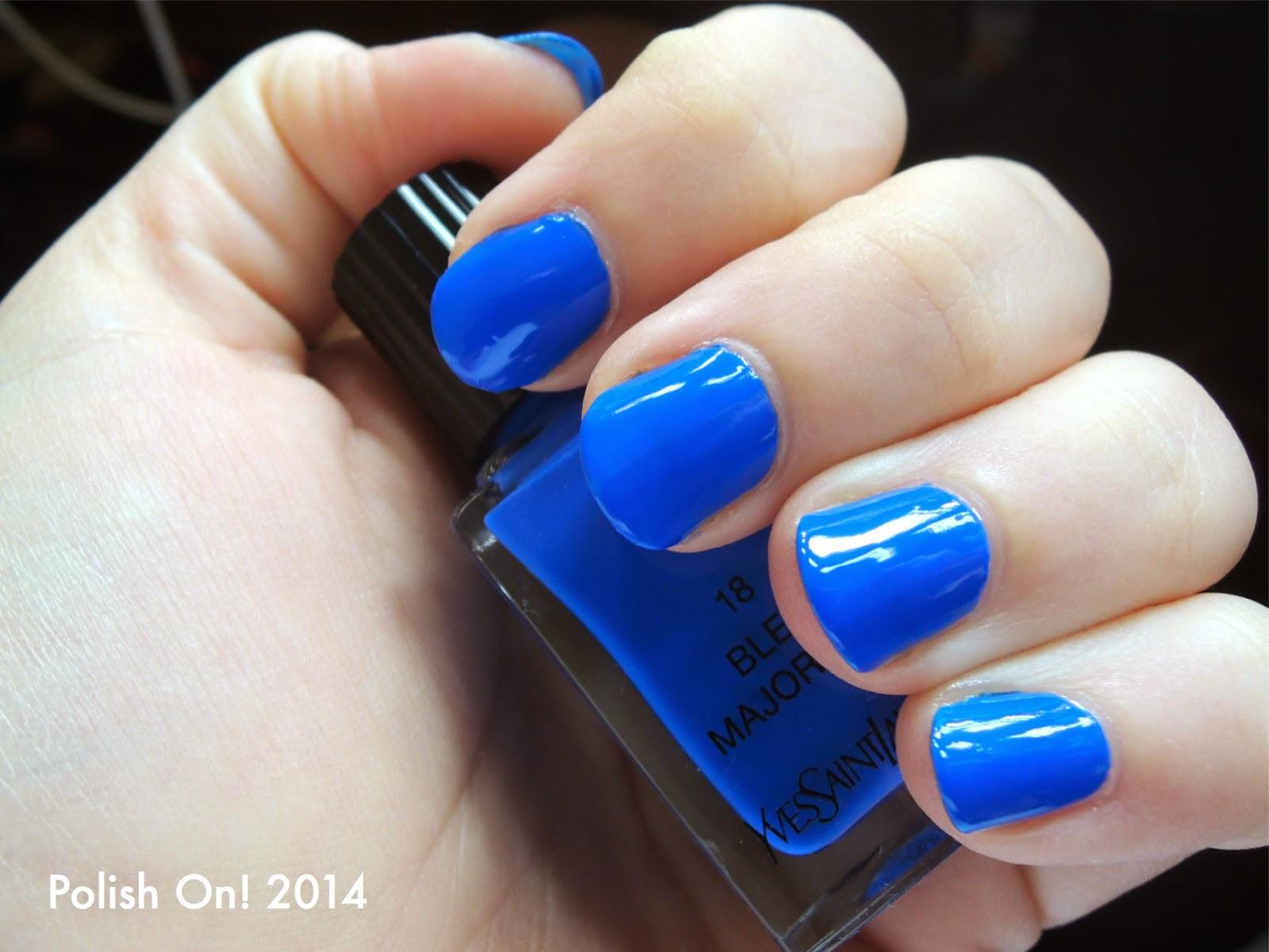 YSL La Laque Couture: 18 Bleu Majorelle Swatches, Photos and Review ...
