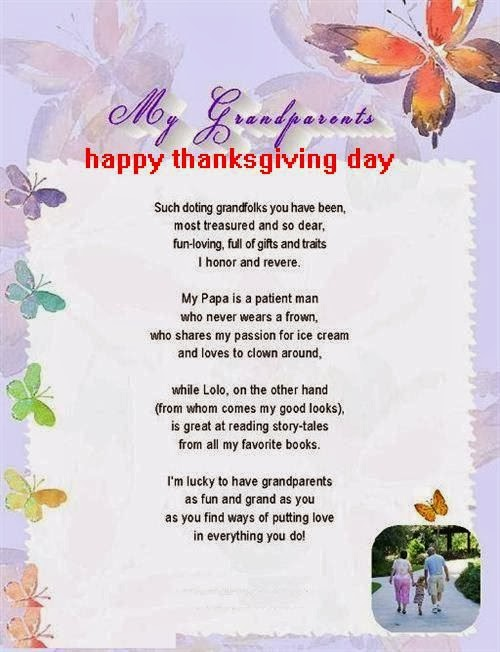 Best Happy Thanksgiving Poems For Grandparents