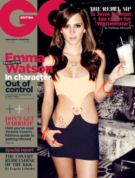 Emma Watson Bling Ring British GQ Cover 2013