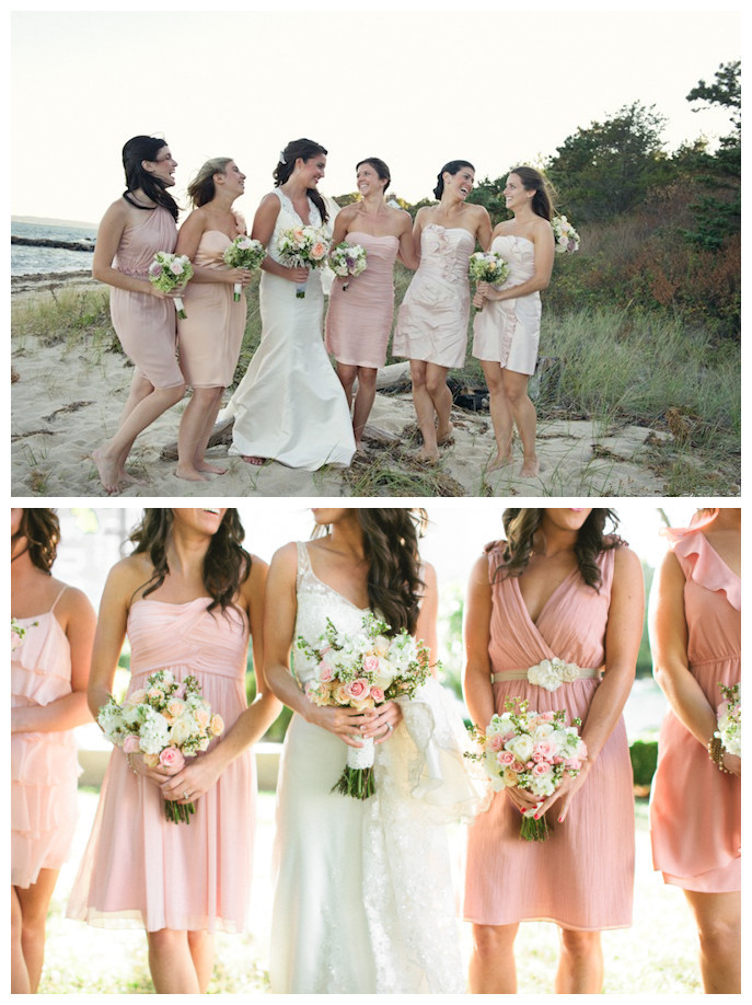 Mismatched Pink Bridesmaid Dresses 01